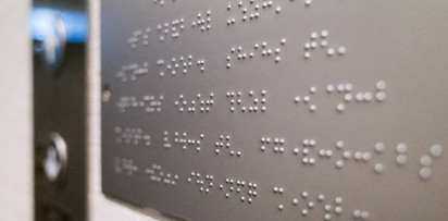 image of braille sign