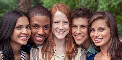 Image of teens smiling